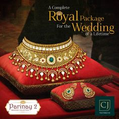 Jewellery that's absolutely fit for your Maharaja Style Wedding. Come, let us adorn you in regalia of the highest order. More than 200 wedding sets readily available. Antique Jewellery Designs, Gold Earrings Designs, Gold Jewellery Design, Indian Bridal Jewelry Sets, Indian Jewelry Earrings, Most Expensive Jewelry, Gold Jewelry Simple, Necklace Set, Gold Necklace