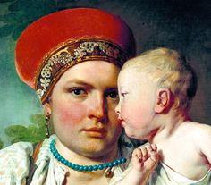 Алексей Венецианов - Кормилица с ребёнком