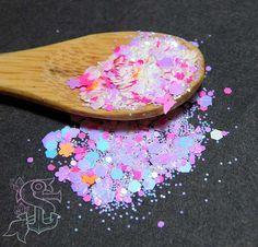 """Mix glitter """"Dancing Queen"""" 4gr, nail art, ricostruzione unghie, resina trasparente, olografico, iridescente"""