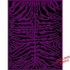 "Animal Print Zebra Skin Area Rugs Exotic Striped African Contemporary Carpet (Black / Purple, Large 5' 2"" X 6'11"") Murano Home Furnishing http://www.amazon.com/dp/B00PSQQVMM/ref=cm_sw_r_pi_dp_duUJub07PT7EZ"