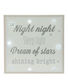 Twinkle Twinkle Light Up Canvas, Mothercare, £14.99