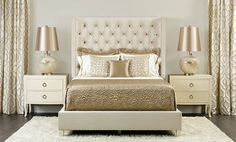 glamorous bedroom ideas cream gold - Google Search