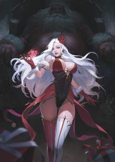 Dark Fantasy Art, Anime Fantasy, Fantasy Art Women, Beautiful Fantasy Art, Fantasy Girl, Fantasy Artwork, Kawaii Anime Girl, Manga Kawaii, Anime Art Girl