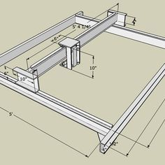 3 Axis CNC Router - 60x60x5 - JunkBot
