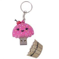 Cupcake USB Flash Drive Key Chain! <3 [cute AND functional= win-win!]
