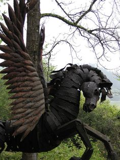 Pegasus Sculpture at Rombauer Vineyards, Napa Valley (photo by Michael Basial)
