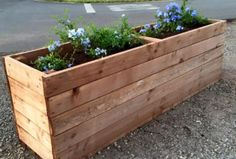 Upcycled Wood Pallet Planter Box