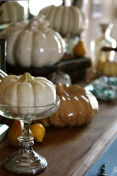 #Silver candy dish with a mini #pumpkin from #Goodwill.  #thrift #fall #decor