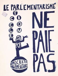 Group of 2 French Protest Posters 1968 ORIGINAL