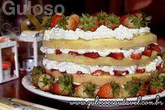 Receita de Torta Genoise de Morangos