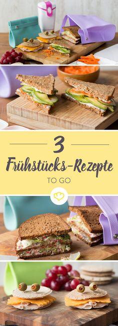 Gesundes Fastfood: mit Vollkornbrot und etwas Gemüse lassen sich im Nu leckere Sandwiches zubereiten, ideal als Frühstück, Pausenbrot oder Abendsnack.