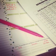 """""""You know I'm serious about a training plan when I write it in my @erincondren in pen. #PRorBust training starts 3/2!"""""""