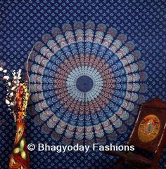 Queen-Mandala-Tapestry-Throw-Bohemian-Decor-Bedspread-Indian-Dorm-Wall-Hanging