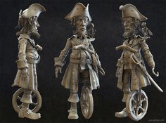 This is a pirate i'm sculpting in zbrush that i plan to create a game res model and texture. Cg Artist, Sketchbook Pages, Art Station, Zbrush, Pirates, Character Art, Sculpting, Sculptures, Photoshop