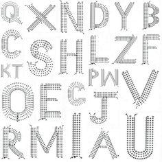 lacasadecotó: [ DIY ] . . . crochet alphabet