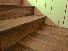 The oak stair treads look great against the stair skirting.
