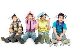 Kids having fun while reading
