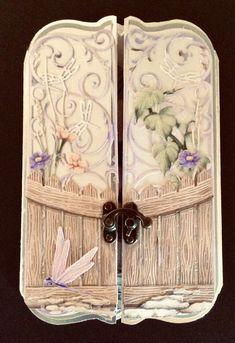 Gatefold  Card made using Carnation Craft Safari Garden. Die Cut Cards, Carnations, Crafts To Make, Safari, Card Ideas, Decorative Boxes, Card Making, Scrapbooking, Album
