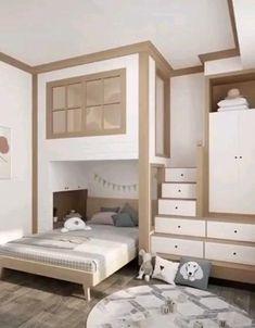 Small Room Design Bedroom, Kids Bedroom Designs, Home Room Design, Room Ideas Bedroom, Kids Room Design, Bedroom Decor, Home Interior Design, Small Room Interior, Small Room Decor