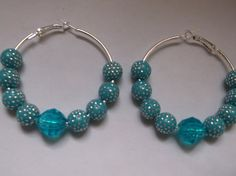 50mm Acrylic/Faceted Bead Silver Finished Steel  by DeeCreative1, $5.25