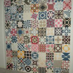 Antique sampler quilt from eBay.