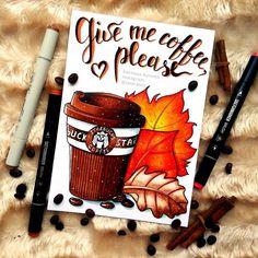 Вот онакрасивая уютная осень наконец настала Очень давно вынашивала идею такой иллюстрации. Осень неизменно у меня ассоциируется с кофе в стаканчиках практически каждый день. Для меня кофе осенью верх уюта И неизвестно сколько бы я еще тянула и откладывалаесли бы чудесная @arhideeva не подтолкнула меня своими уютными осенними иллюстрациями #autumn #art #sfs #instaart #artist #illustration #leuchtturm1917 #copic #touchmarker #copicart #markers #sketchmarker #sketchmarkersclub #draw #starbucks…