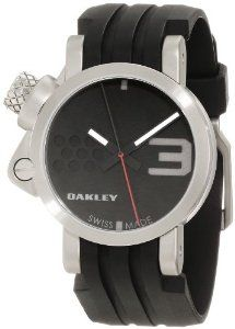Oakley Men's 10-031 Unobtainium Strap Edition Watch Oakley. $496.85. 45-month battery. Impact-forged 316l stainless steel. Swiss made quartz movement, 1-jewel. Screw-down stainless steel case back. Three-hand analog display: hours, minutes, seconds