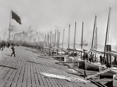 Oyster Luggers at the Levee: New Orleans, Louisiana 1901