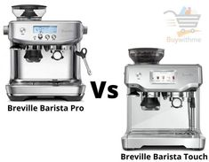 Breville Barista Pro vs Touch - Select the Best Espresso Machine! Breville Espresso Machine, Best Espresso Machine, Maker Labs, Security Gadgets, Different Coffees, Cafe Style, Cooking Appliances, Stainless Steel Material, Latte Art