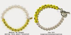 DIY: Nektar De Stagni smiley face and pearl bracelet