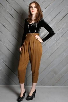 high waist gold trousers