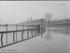 Louisville KY  ... Churchill Downs during the 1937 flood... photo by 'Courier-Journal' photographer H. Harold Davis ...