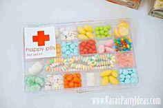 Buena idea usar confites como pastillas!