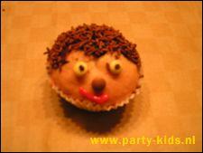 traktaties - egeltje van muffin zelf maken