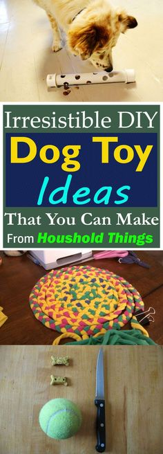 28 DIY Dog Toys your dog will love to have! Easy to make with quick tutorials, must check out!