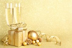 New Year Gold Background