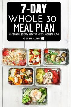 The Whole 30 Program has become popular in recent years as the latest diet on the market. And while we don't advocate for any certain diet here at Get Healthy U, we are all about eating real food which is one of the Whole 30s biggest components. So if you Whole 30 Meal Plan, Whole 30 Lunch, Whole 30 Diet, Whole Food Diet, Paleo Whole 30, Whole 30 Recipes, Whole Food Recipes, Whole30 Beef Recipes, Diet Recipes