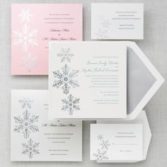 Sparkling Snowflake Wedding Invitation - Winter Wedding Invitations