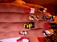 Nicole's nails . R.I.P. Uncle Skip . I miss you!