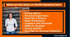 CELPIP Speaking Test has total 8 topics: – Giving Advice – Personal Experience – Describe a Picture – Make Predictions – Compare and Persuade – Difficult situation – Giving Opinion – Describe an Unusual Situation. How To Plan, How To Make, Advice, Teacher, Science, Pictures, Photos, Tips, Professor