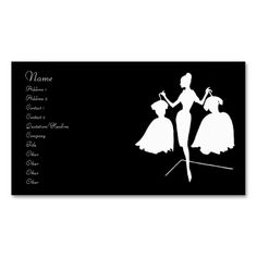 Fashion business cards fashion business card templates pinterest vintage fashion silhouette business card accmission Image collections