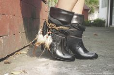DIY boots Nice This would be a great result from the black updue boot tutorial
