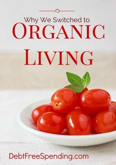 Read our personal story about why we switched to organic living.