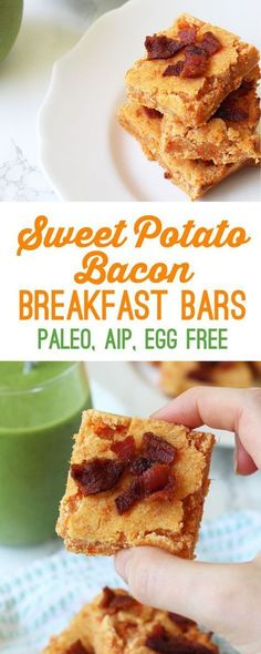 Paleo Sweet Potato Bacon Breakfast Bars (Egg Free & AIP) – Unbound Wellness – Famous Last Words Breakfast Desayunos, Breakfast Recipes, Breakfast Potatoes, Breakfast Healthy, Breakfast Ideas, Paleo Breakfast Casserole, Breakfast Cookies, Breakfast Smoothies, Crepes