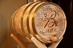 wine barrel wishing well wedding - Google Search