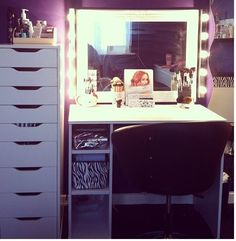 makeup vanity with lots of storage. Going to make me a vanity set Ikea Makeup Vanity Ideas x3 gotta have lots of drawers  for my