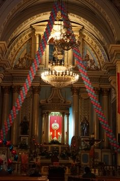 Detalle en el interior del Templo de la Limpia Concepción en Puebla, Puebla. Mex. Foto tomada por KiraBrilla 13/12/13