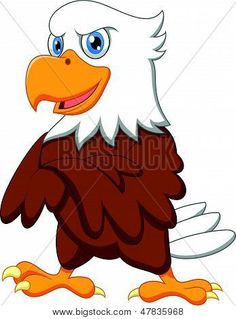 Vector illustration of Cute eagle cartoon posing Poster. Eagle Cartoon, Eagle Face, Cartoon Design, Eagles, Disney Characters, Fictional Characters, Illustration, Cute, Poster