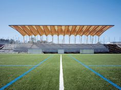 Grandstand Roofs in Nanterre, Barthélémy & Griño Architectes