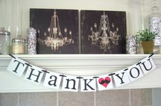 Mustache Party Thank You banner Etsy Mustache Wedding banner Thank you by lolaandcompany, $19.00